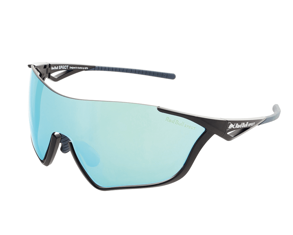 Red Bull Spect Sunglasses - FLOW Dark Blue / Dark Blue / Grey With Blue Green Mirror