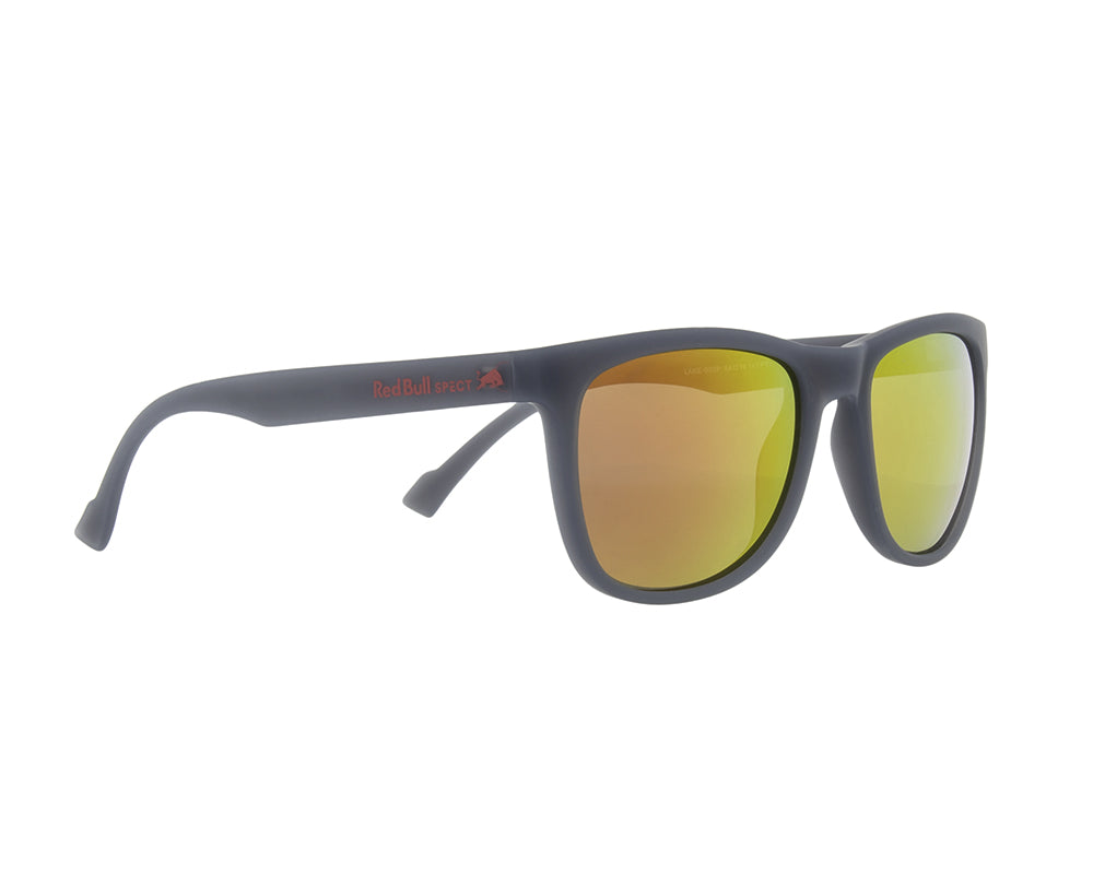 Red Bull Spect Sunglasses - LAKE  X'tal Grey / Smoke With Red Mirror Polarized