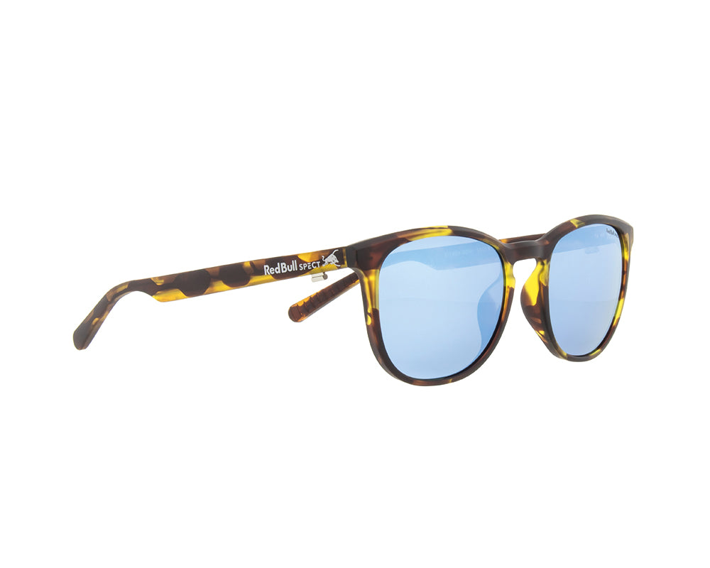 Red Bull Spect Sunglasses - STEADY Havanna / Smoke With Blue Mirror Polarized
