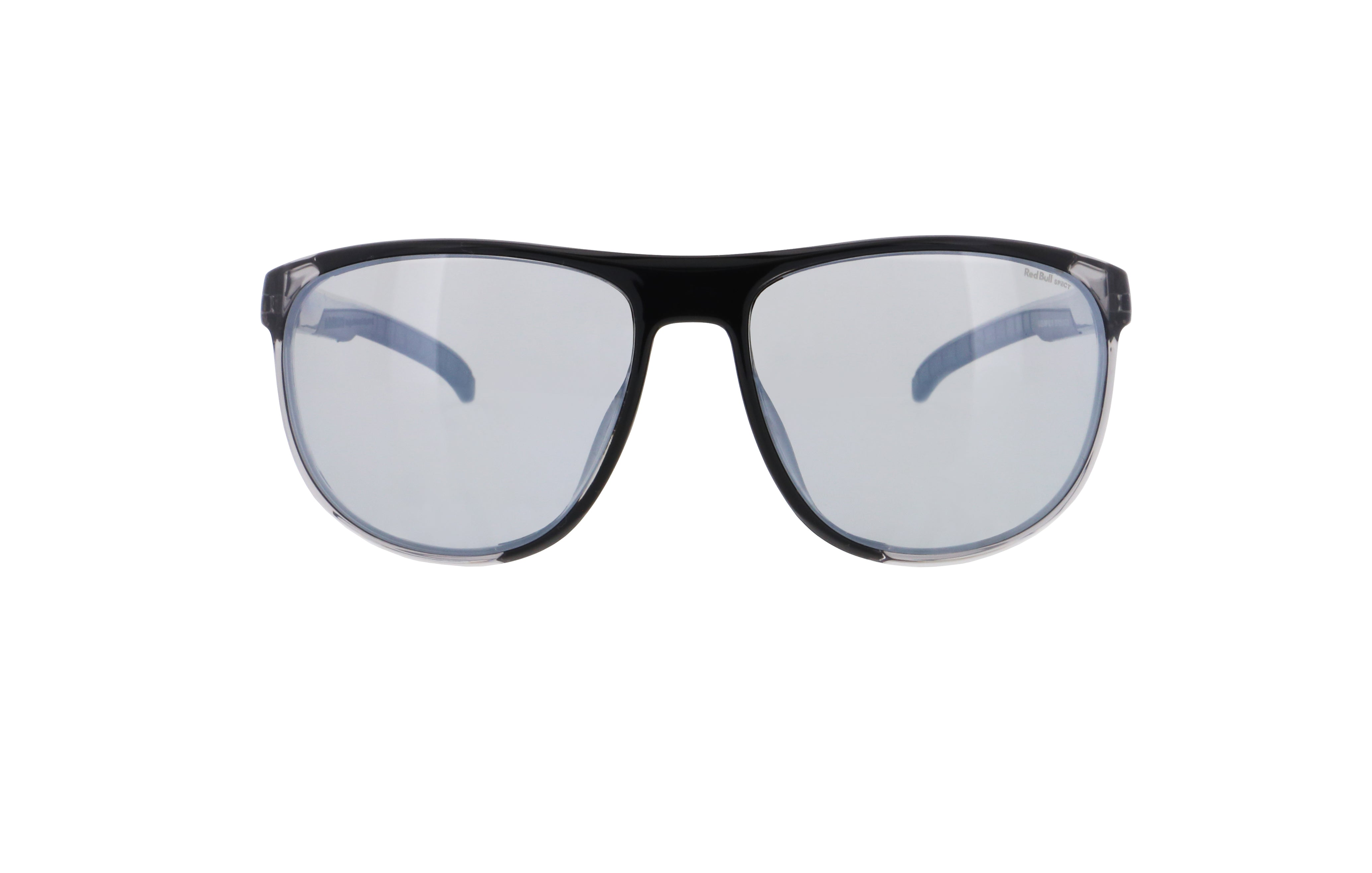 Red Bull Spect Sunglasses - SLIDE X'tal Grey / Black / Smoke With Silver Flash Polarized