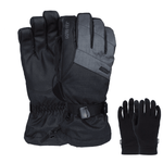 POW Warner GTX Long Cuff Ski / Snowboard Gloves - Charcoal Grey