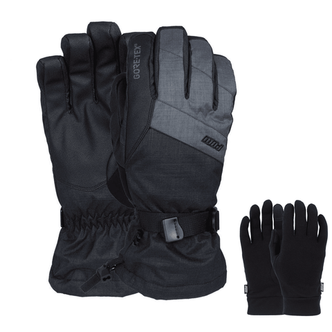 POW Warner GTX Gloves - Long Cuff (Charcoal Grey)