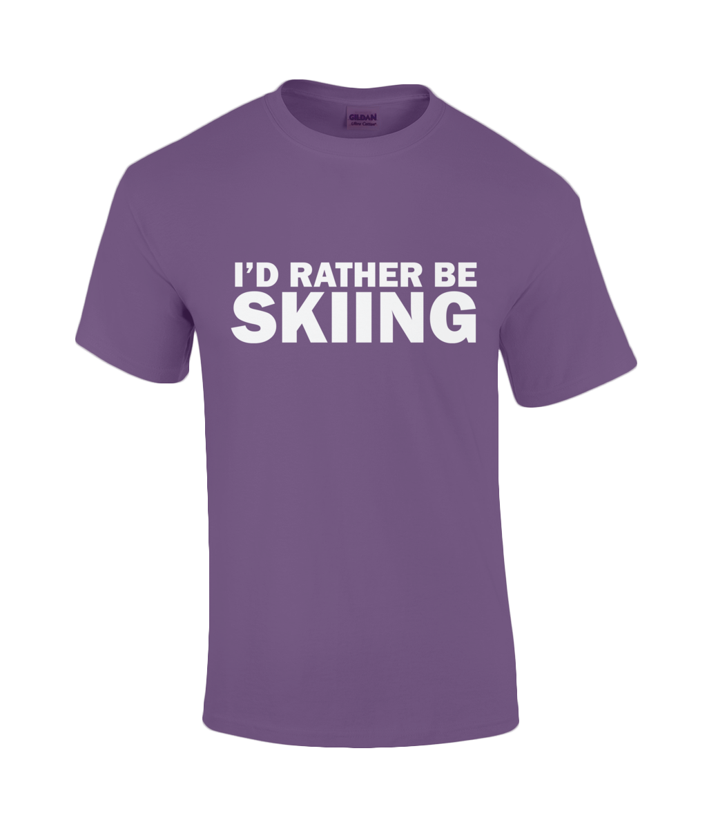 "Funky Yeti Men's T-Shirt ""I'd Rather Be Skiing"""