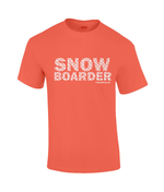 "Load image into Gallery viewer, Funky Yeti Men's T-Shirt ""Snowflake Snowboarder"""