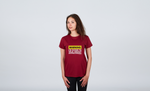 Load image into Gallery viewer, Funky Yeti Women's Warning - Snowboarder Tee