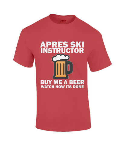 "Funky Yeti Men's T-Shirt ""Apres Ski Instructor"""