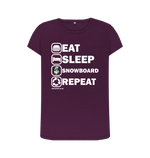 Load image into Gallery viewer, Funky Yeti Women's Eat Sleep Snowboard Repeat Tee