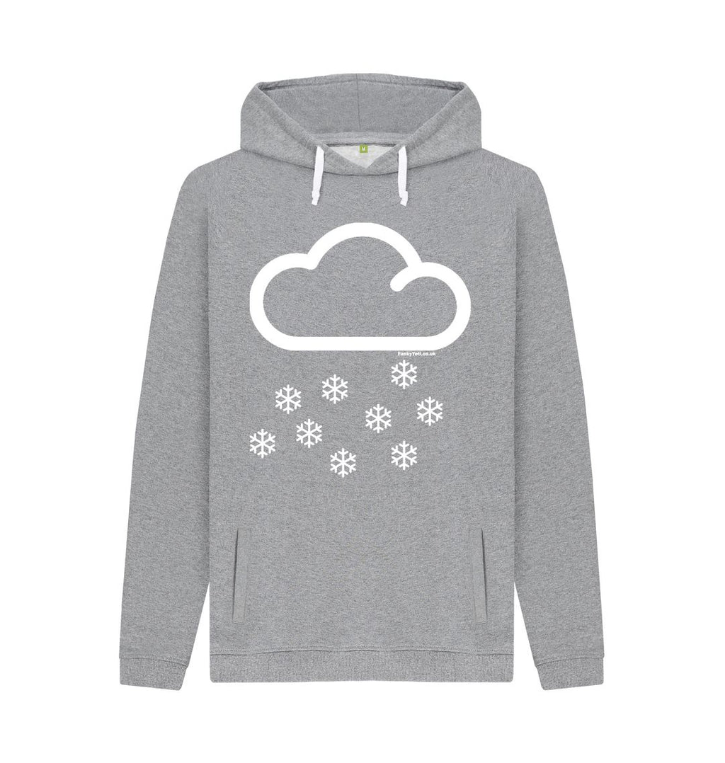 Light Heather Funky Yeti Men's Pullover Hoodie - Snow Cloud