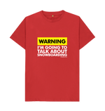 "Load image into Gallery viewer, Funky Yeti Men's ""Warning - Snowboarder"" Tee"
