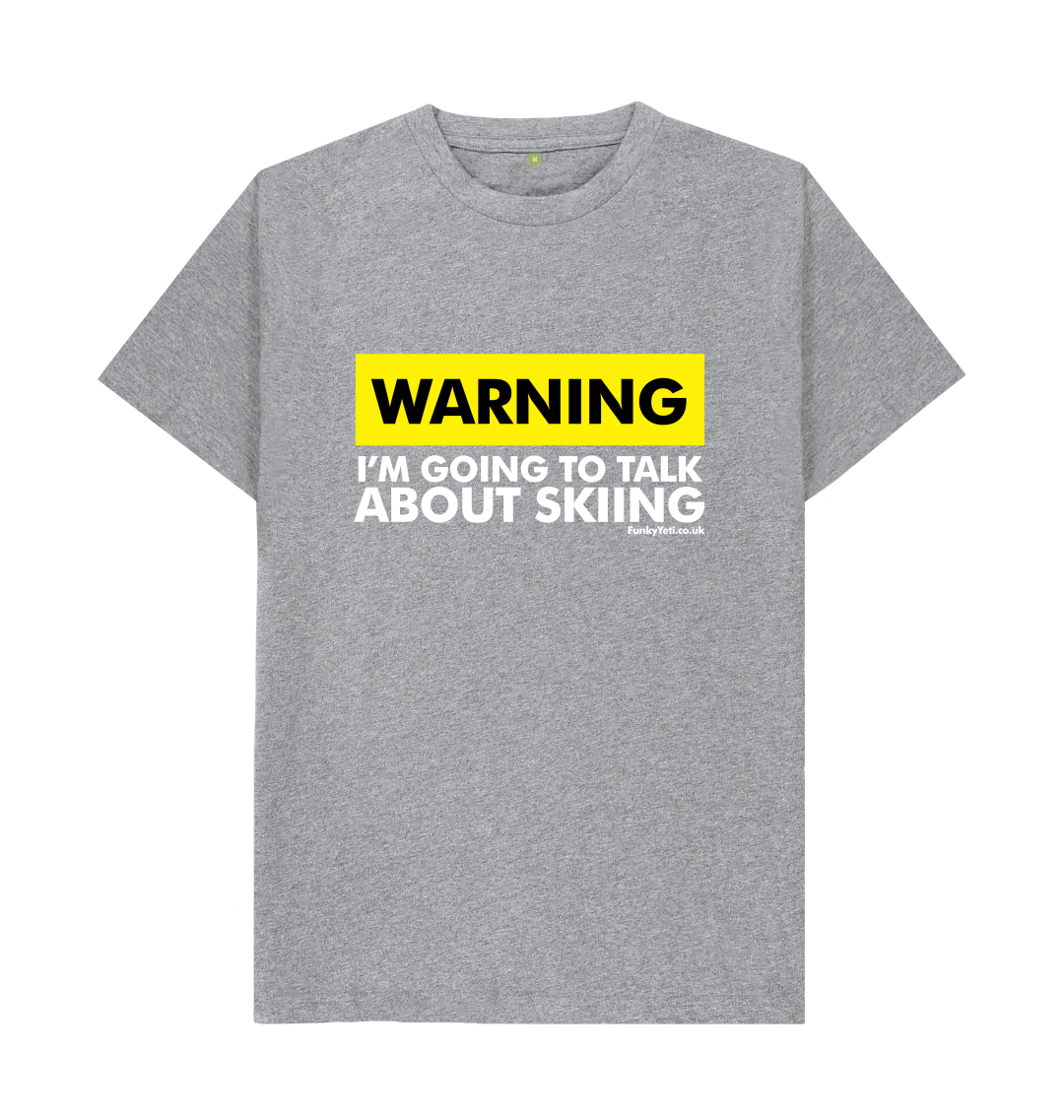 Funky Yeti Men's Warning - Skier Tee