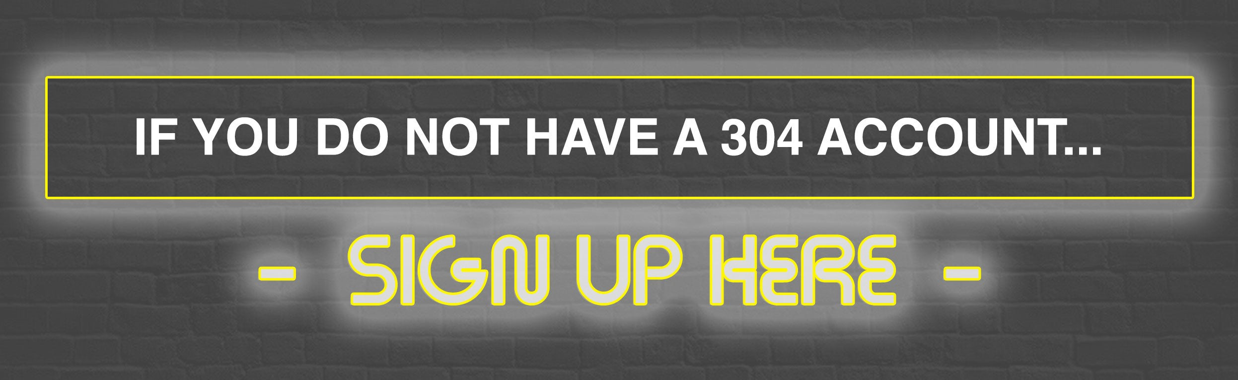 304 Sign up