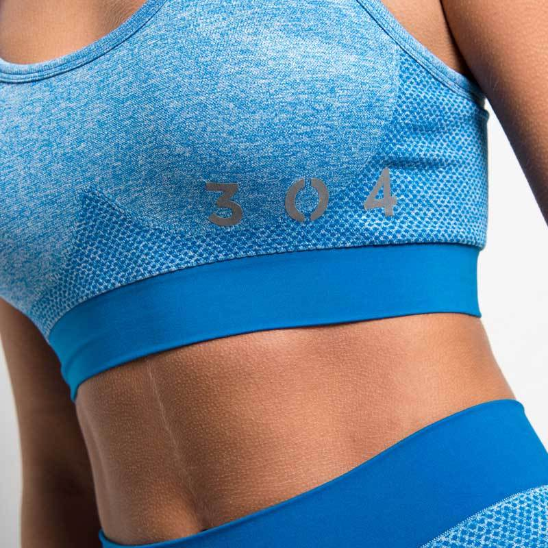 304 Clothing | Active Seamless Sports Bra | Sapphire Blue | Womens