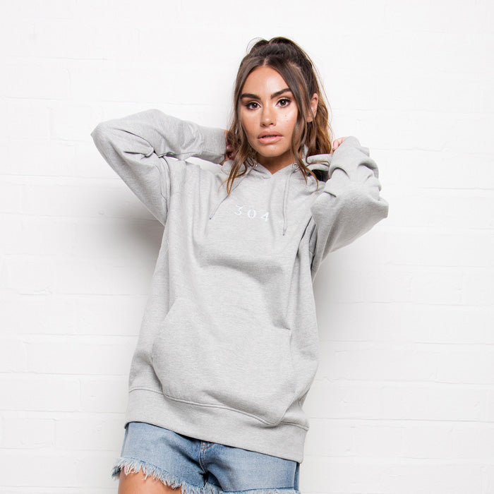 304 Clothing | Core Hoodie Grey & White | 304 Womens