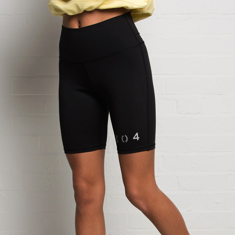 304 Reflective Black Cycling Shorts