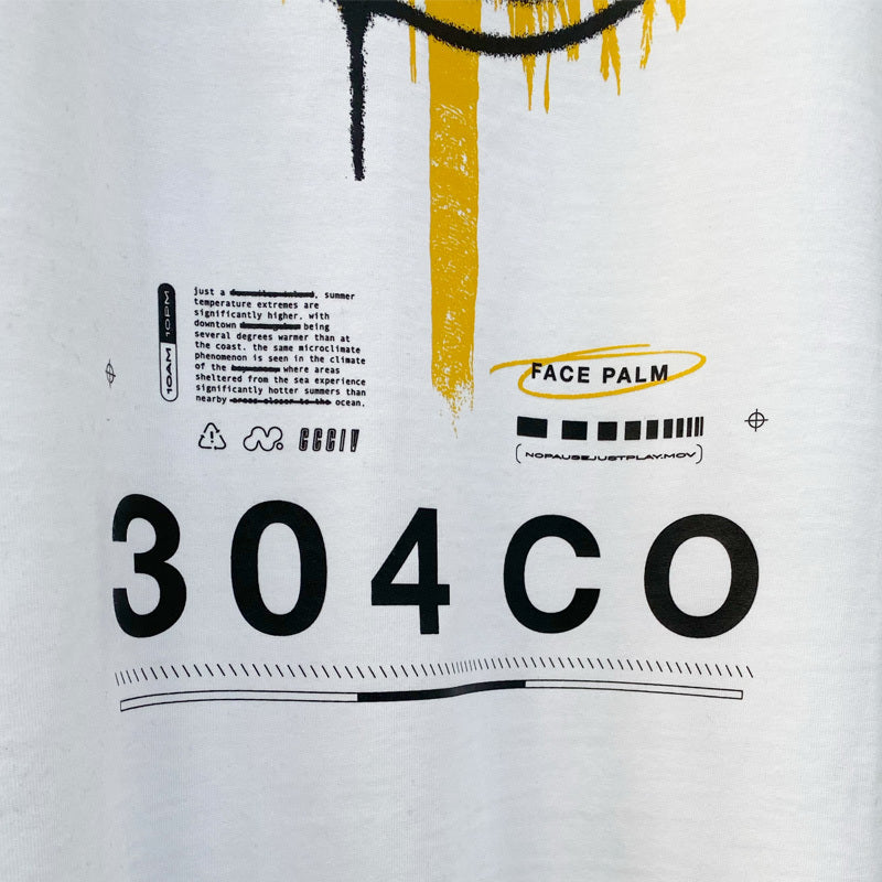 304 Face Palm T-shirt White