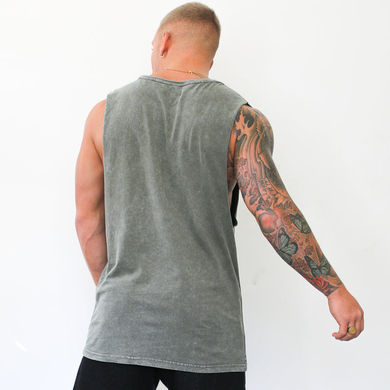 304 Clothing | Stone Summer Wash Vest - Moss | Mens