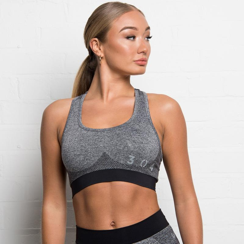 304 Clothing | Active Seamless Sports Bra | Charcoal | Womens