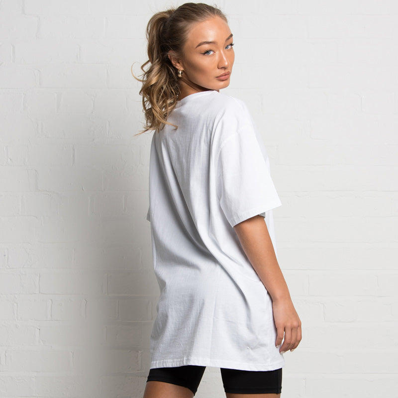 304 Clothing | Mesh Branding T-shirt | Relaxed Fit | White | Womens