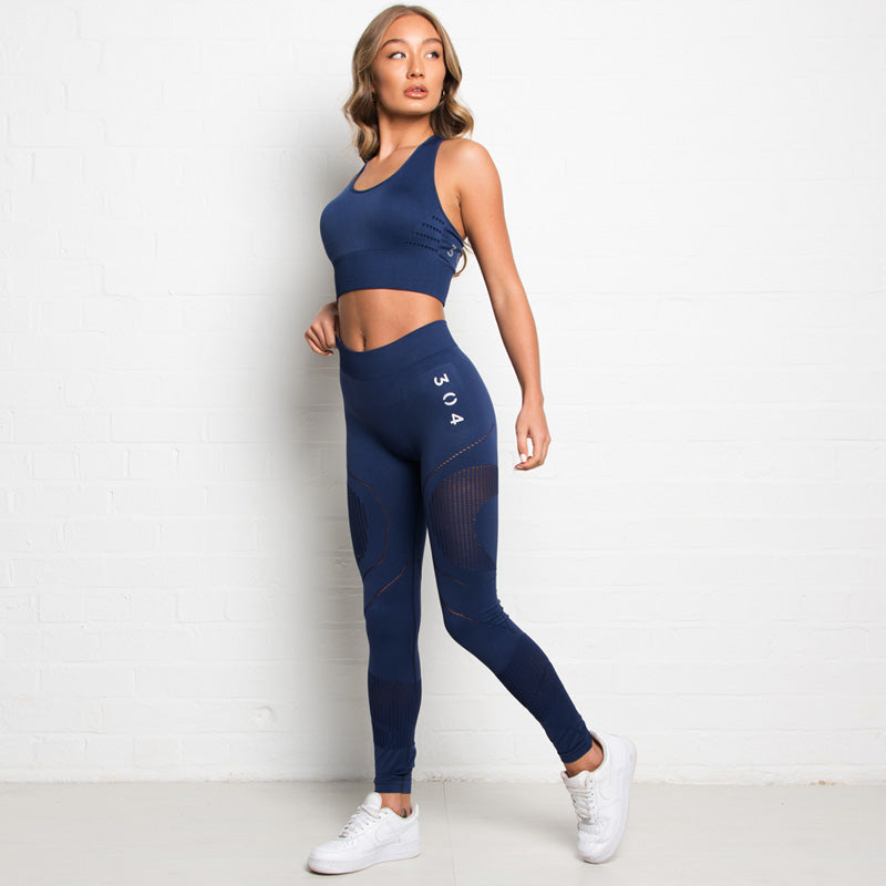 304 Clothing | Active 3D Reveal Seamless Legging | Navy | Womens