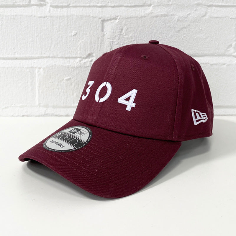 304 Clothing | New Era x 304 Clothing 9FORTY® Cap - Maroon