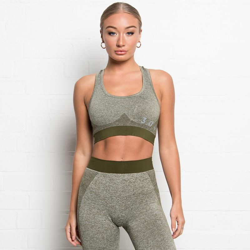 304 Clothing | Active Seamless Sports Bra | Olive | Womens