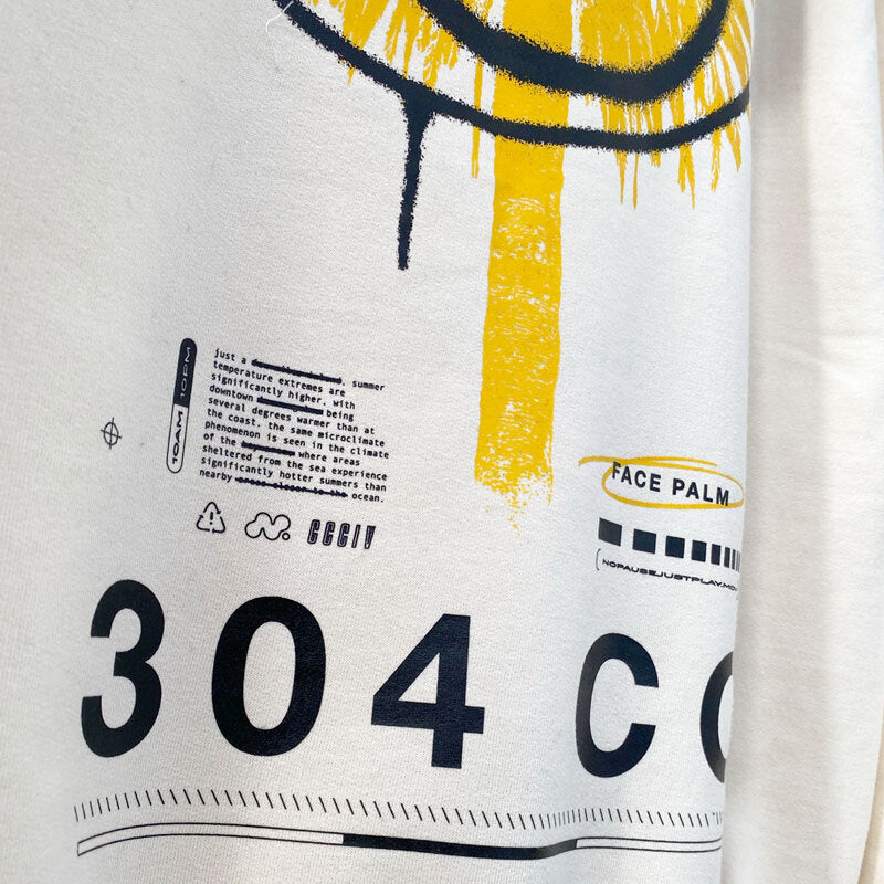 304 Clothing | Face Palm T-shirt | White | Mens