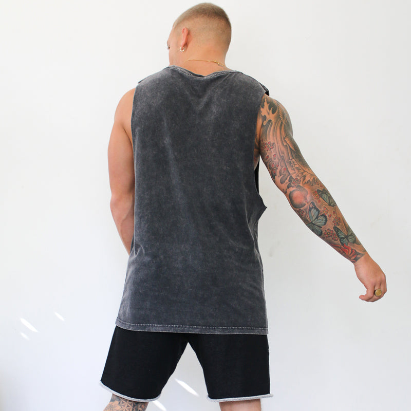 304 Clothing | Stone Summer Wash Vest - Black | Mens