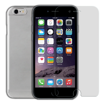 Thinkgear iPhone 6s / 6 - Clear Shell with Tempered Glass Pack