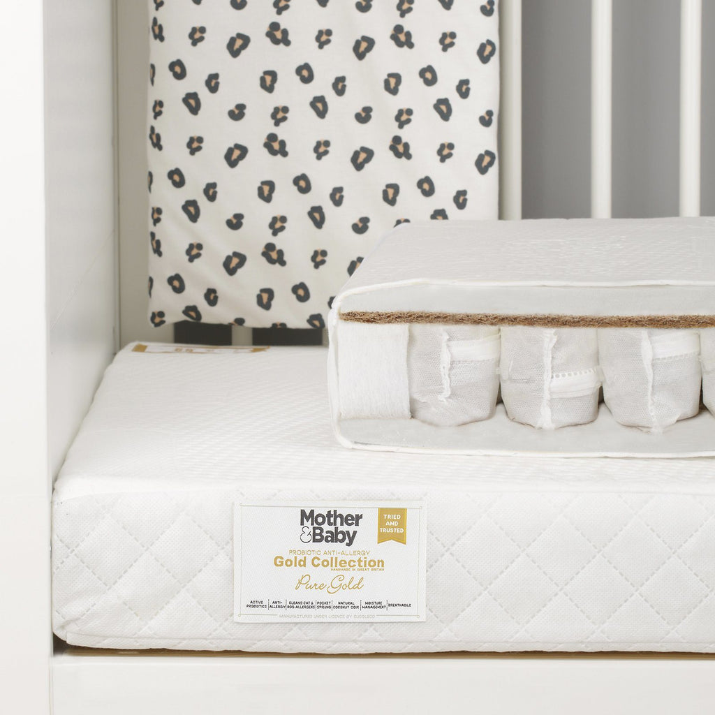 Mother&Baby Pure Gold Anti-Allergy Coir Pocket Sprung Cot Mattress 120 x 60cm Mattresses Mother & Baby