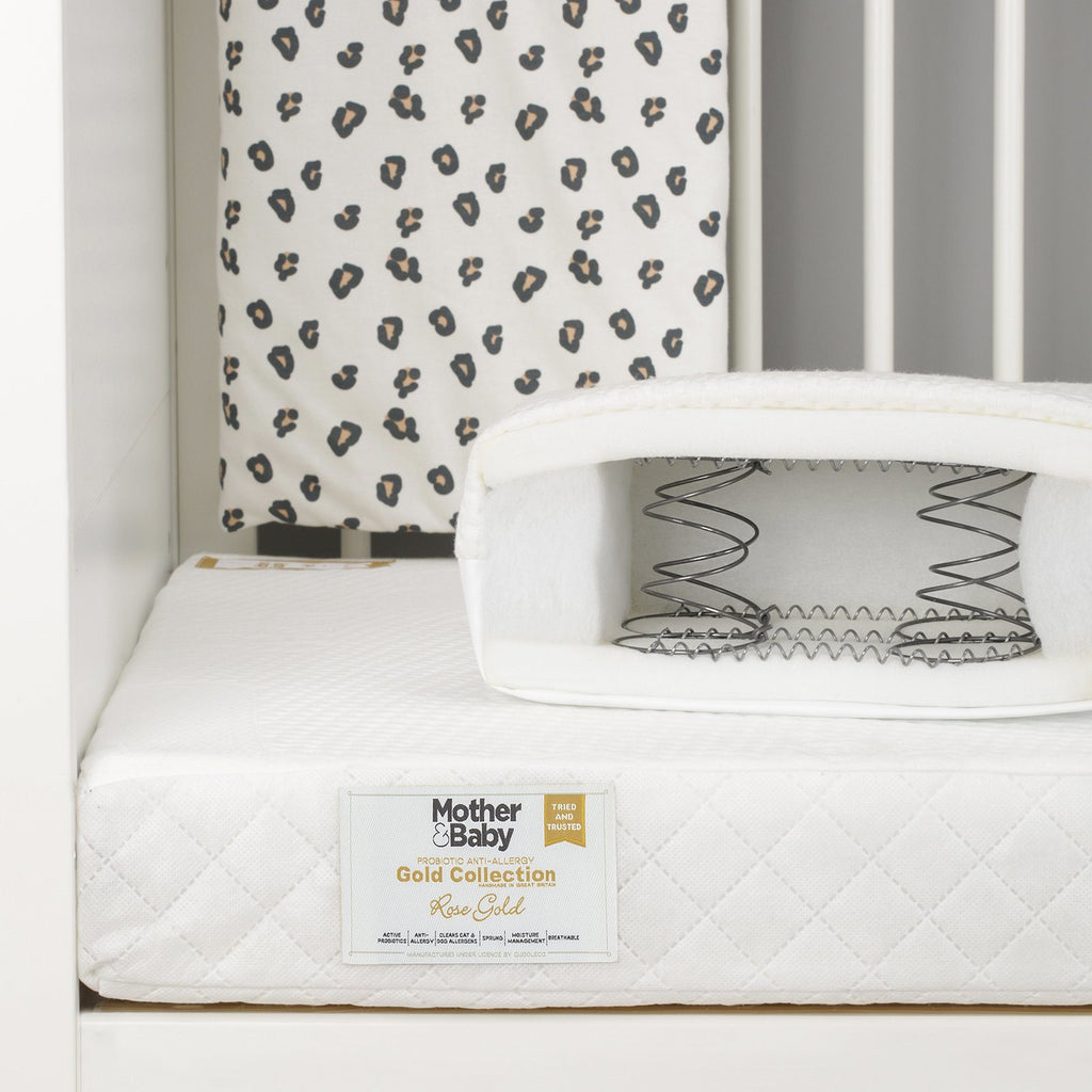 Mother&Baby Rose Gold Anti-Allergy Sprung Cot bed Mattress 140 x 70cm Mattresses Mother & Baby
