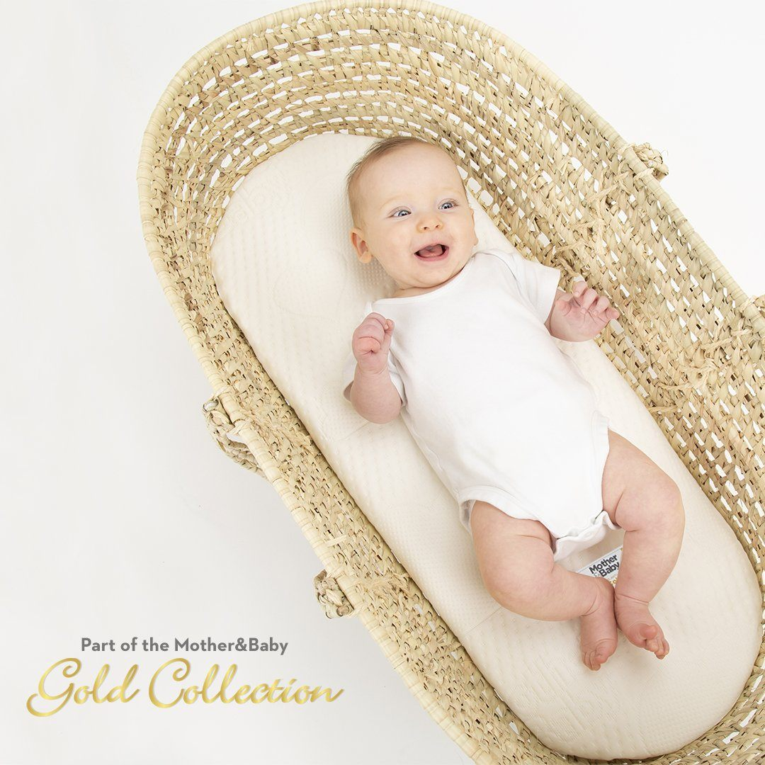 Mother&Baby First Gold Anti-Allergy Foam Moses Basket Small 66 x 28cm Mother & Baby