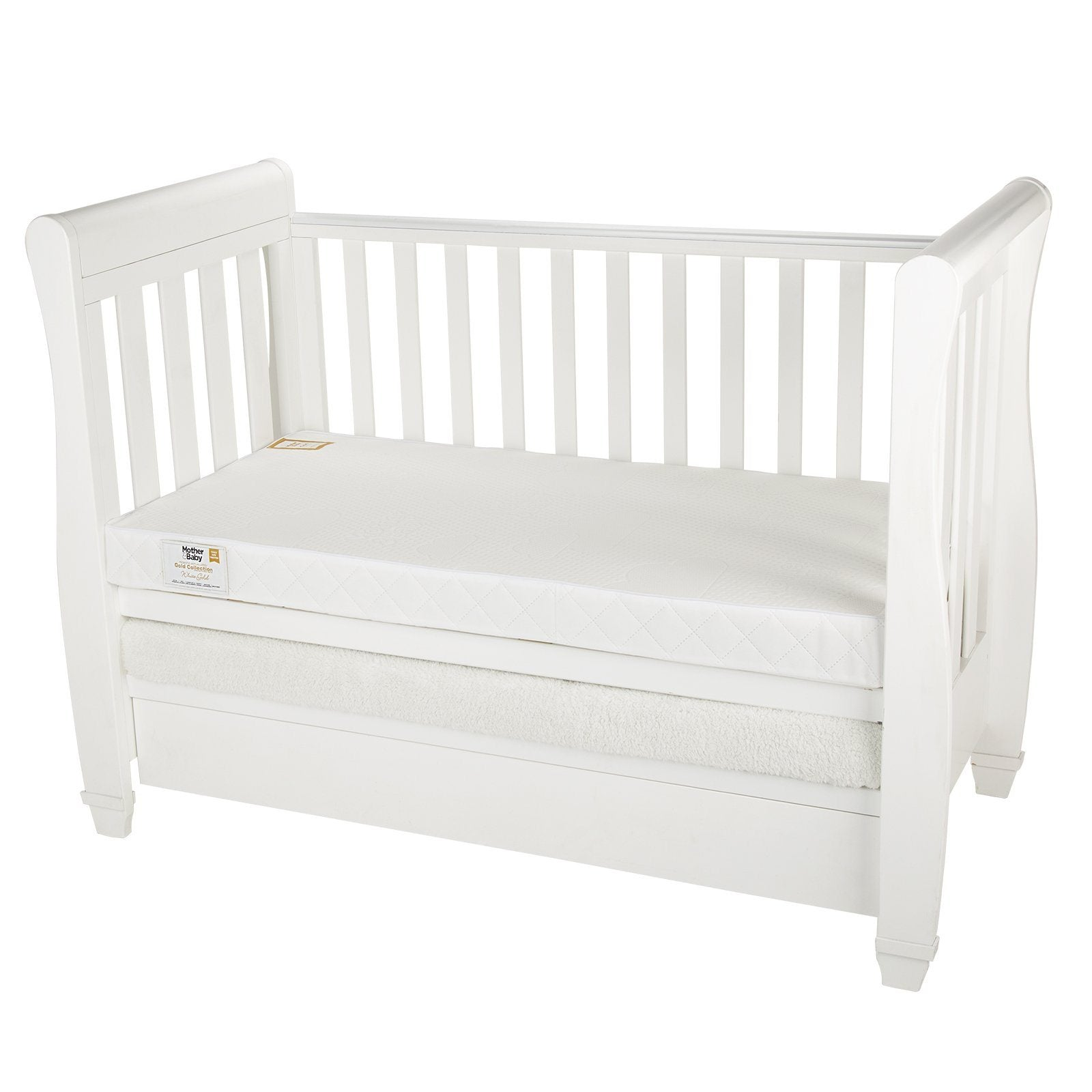 Mother&Baby White Gold Anti-Allergy Pocket Sprung Cot Mattress 120 x 60cm Mother & Baby