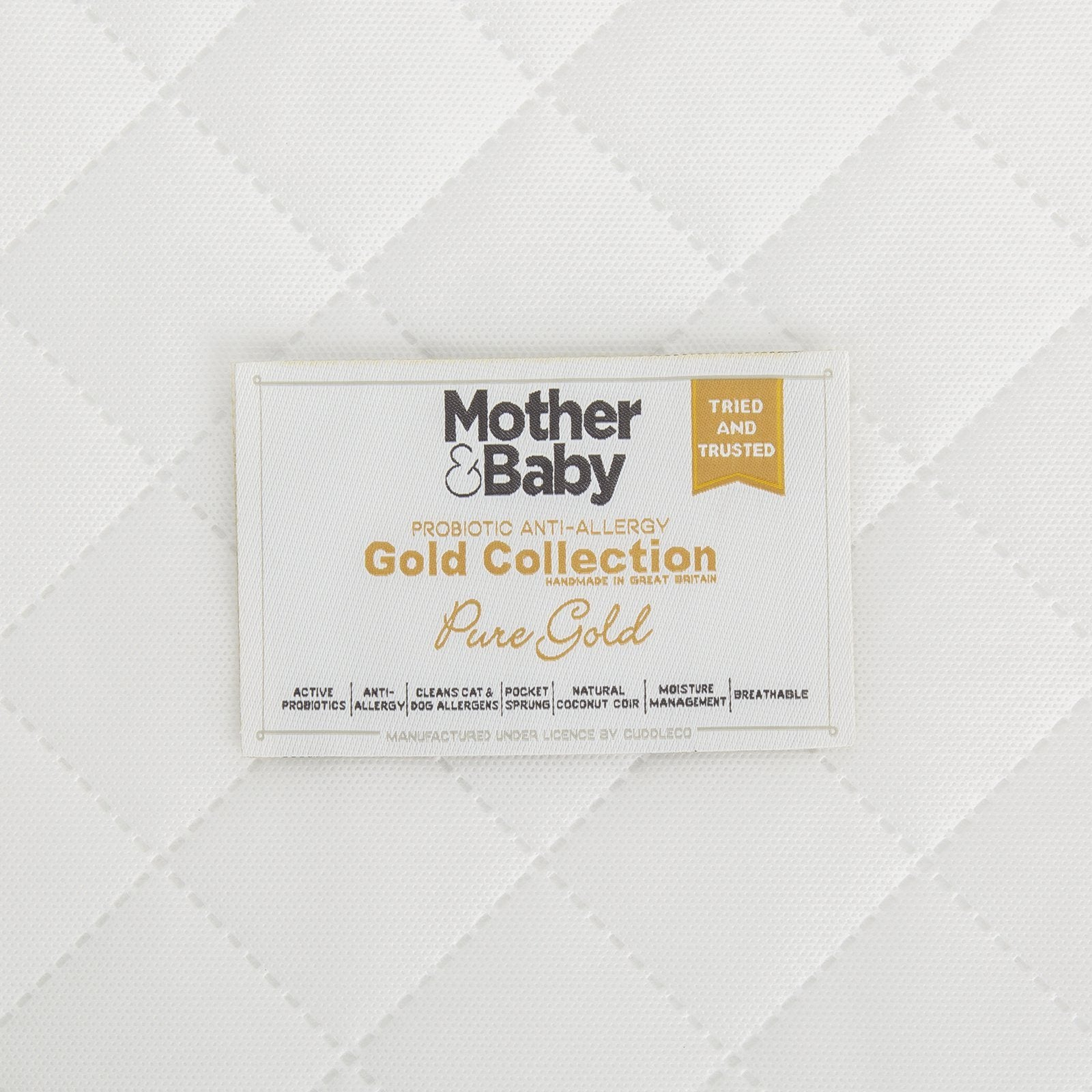 Mother&Baby Pure Gold Anti-Allergy Coir Pocket Cot bed Mattress 140 x 70cm Mother & Baby