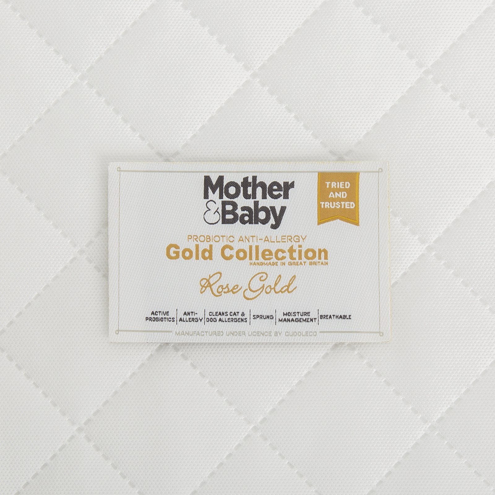 Mother&Baby Rose Gold Anti-Allergy Sprung Cot bed Mattress 140 x 70cm Mother & Baby