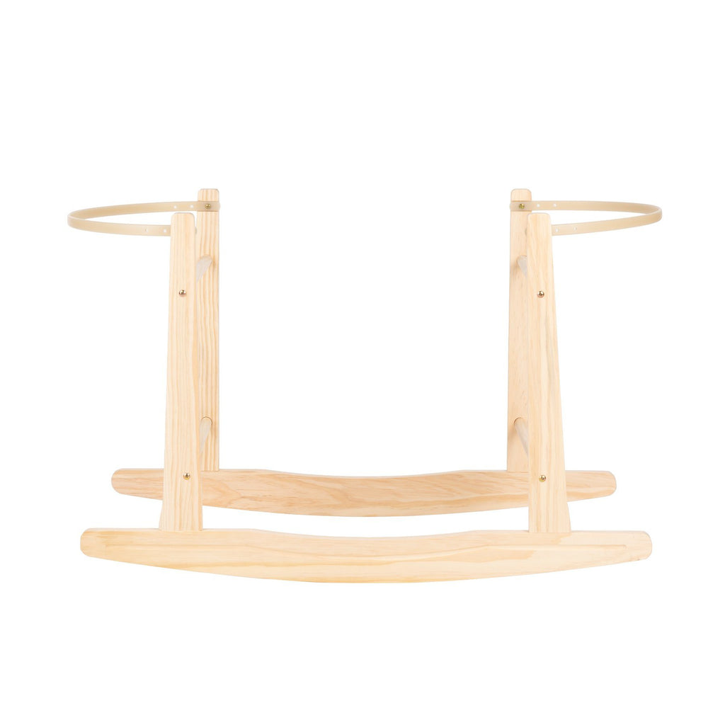 Rocking Moses Basket Stand - Natural Furniture CuddleCo