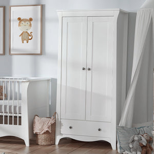 Clara 2 Door Double Wardrobe - White Furniture CuddleCo