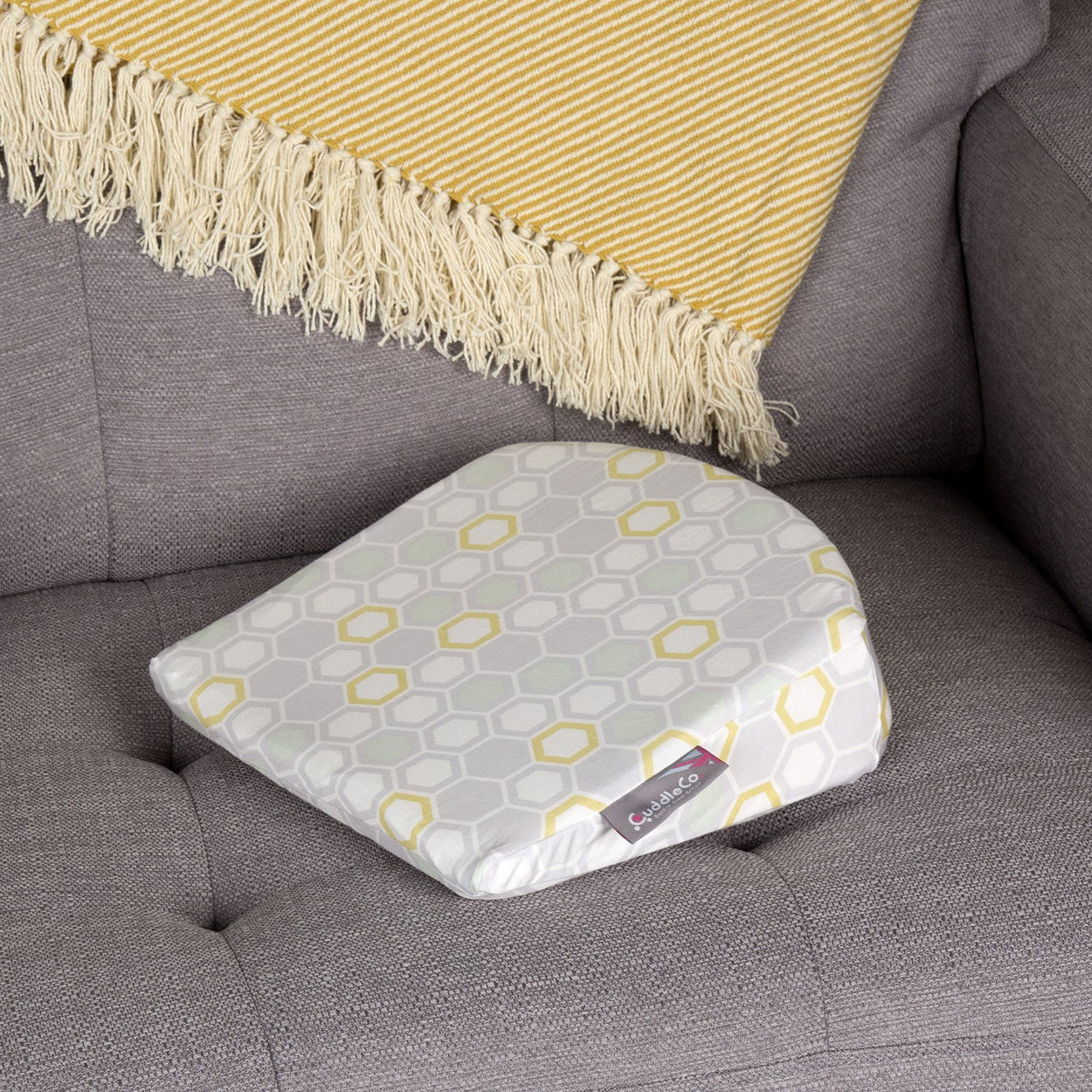 comfi mum 3in1 memory foam wedge cushion beehive