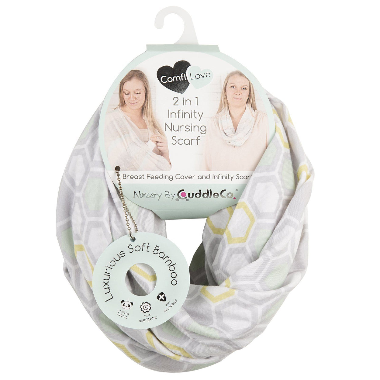 Comfi- Love 2 in 1 Infinity Nursing Scarf - Beehive Feeding & Support cuddleco