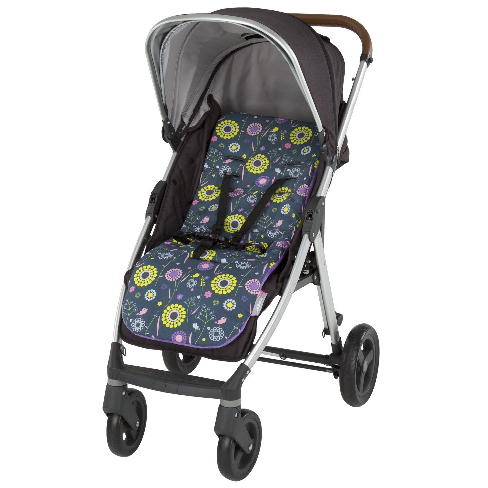 Comfi-Cush Memory Foam Stroller Liner - Blossoms On The Go cuddleco