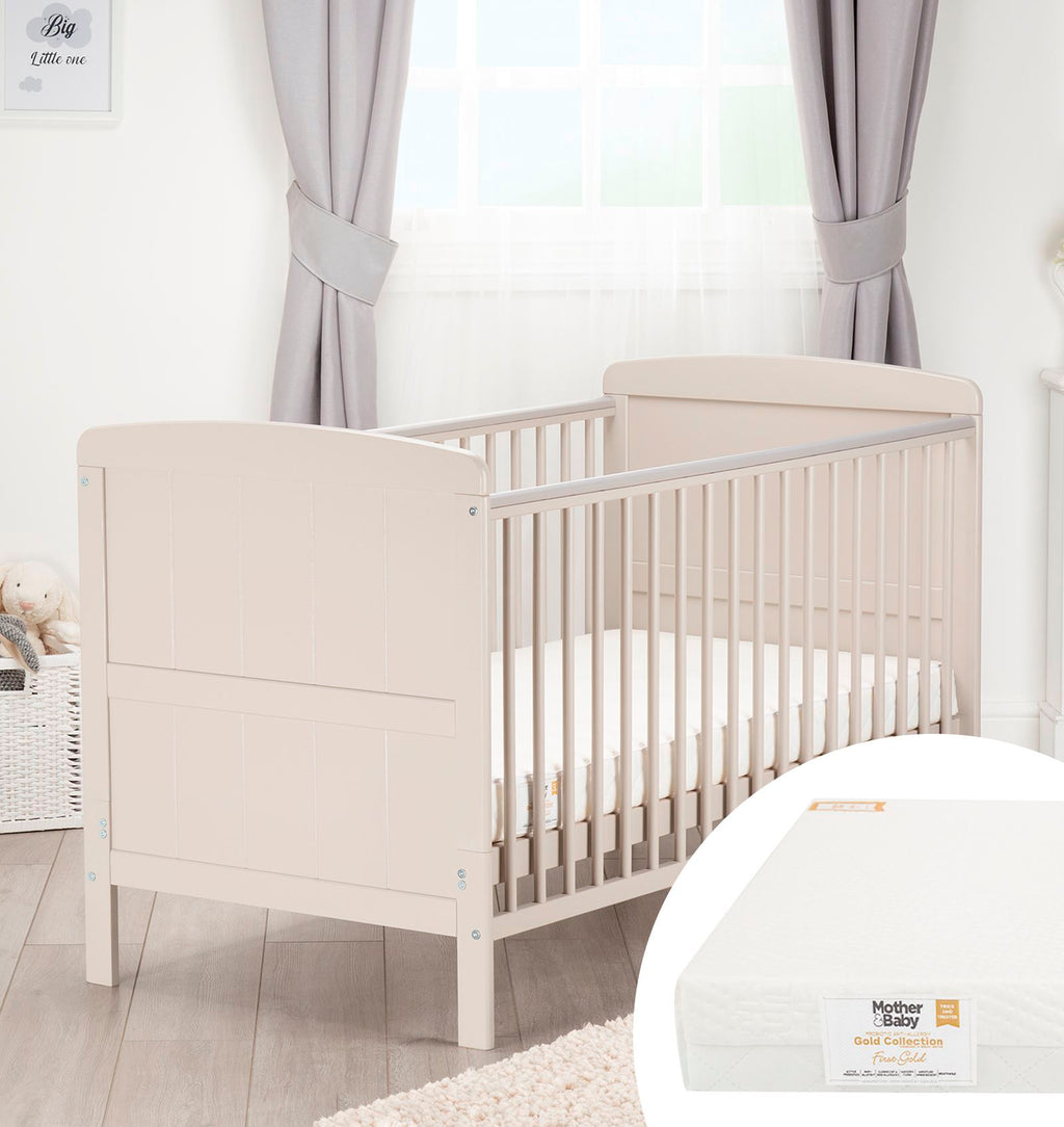 Juliet Cot Bed White + Signature Hypo-Allergenic Bamboo Pocket Sprung Cot Bed Mattress Furniture CuddleCo