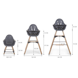 Evolu 2 Chair - Natural / Anthracite Childhome