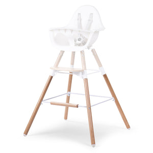 Evolu 2 Extra Long Legs Natural + Footstep Childhome