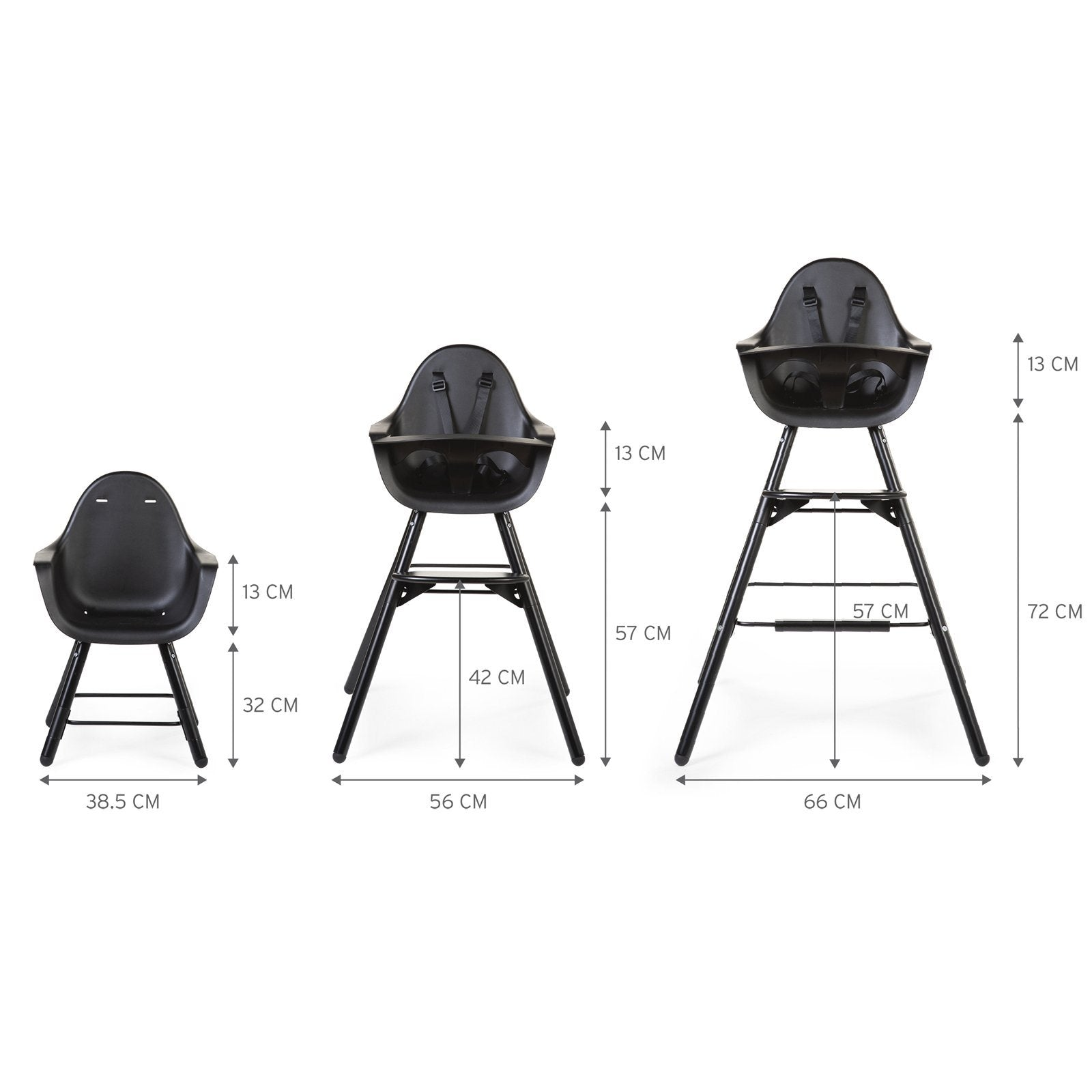 Evolu 2 Highchair - Black Childhome