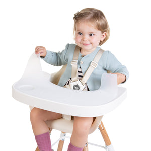 Evolu Abs Tray - White & Silicone Childhome