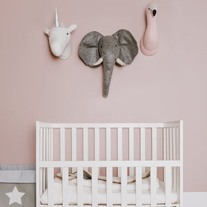 Felt Elephant Head Wall Deco Nursery Decor Childhome