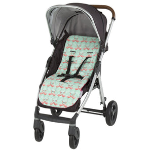 Comfi-Cush Memory Foam Stroller Liner - Flamingo On The Go cuddleco