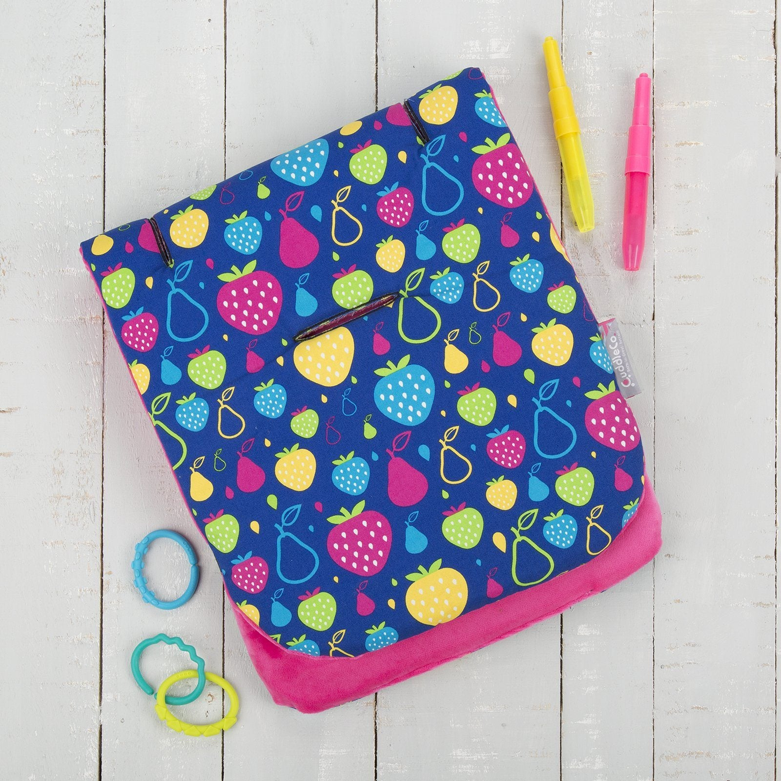 Comfi-Cush Memory Foam Stroller Liner - Fruity Tutti On The Go cuddleco