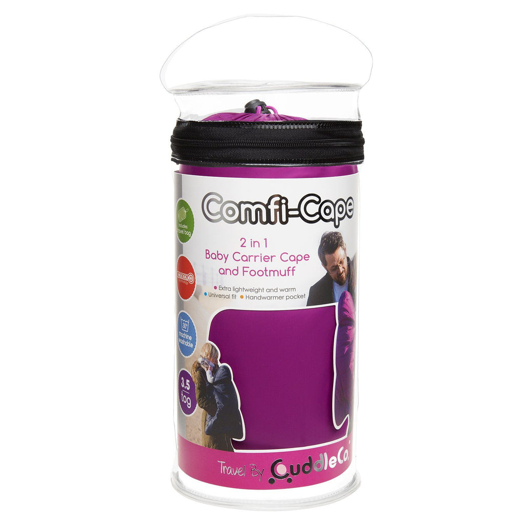 Comfi-Cape 2in1 Carrier Cape and Stroller Liner - Grape