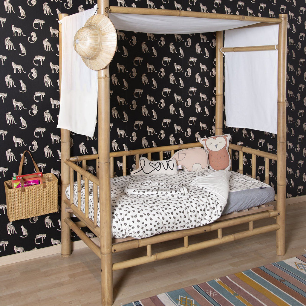Jersey Leopard Duvet Cover + Pillowcover 100 x 140cm Childhome