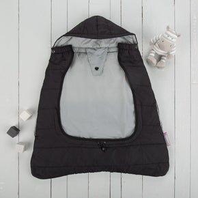 comfi cape 2in1 carrier cape and stroller liner liquorice